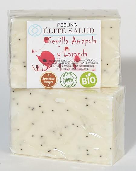 Jabón para Peeling/Exfoliante de Amapola y Lavanda