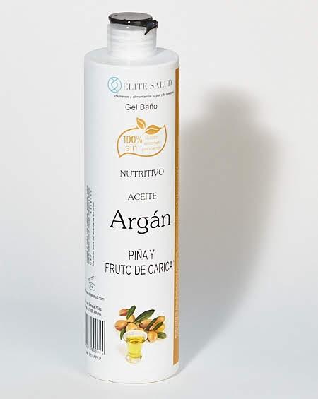 Gel de baño de aceite de argán, piña y fruto de carica