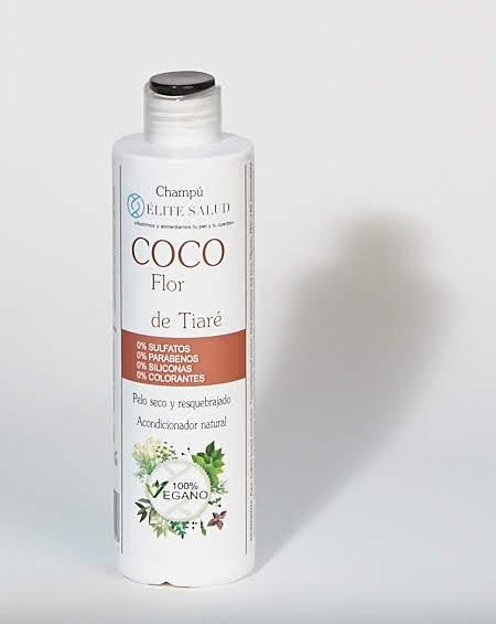 Champú de aceite de coco y flor de Tiaré