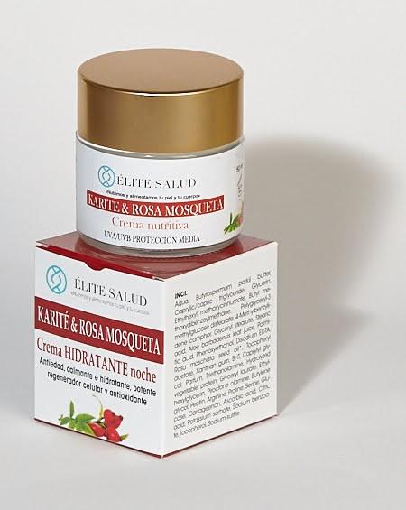 Crema hidratante de noche antienvejecimiento
