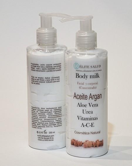 Body Milk de Argan y Aloe Vera